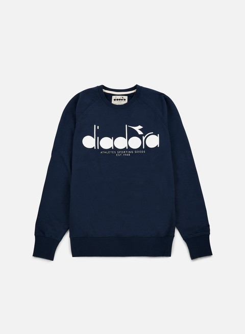 felpe diadora bl sweatshirt blue denim