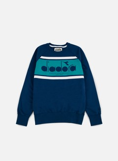 Diadora - BL Sweatshirt, Estate Blue/Porcelain Green 1