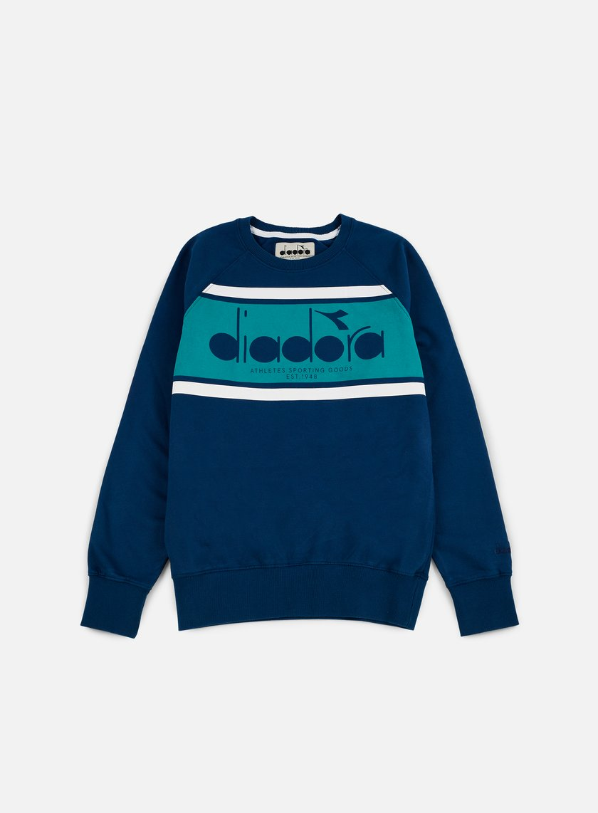 Diadora - BL Sweatshirt, Estate Blue/Porcelain Green