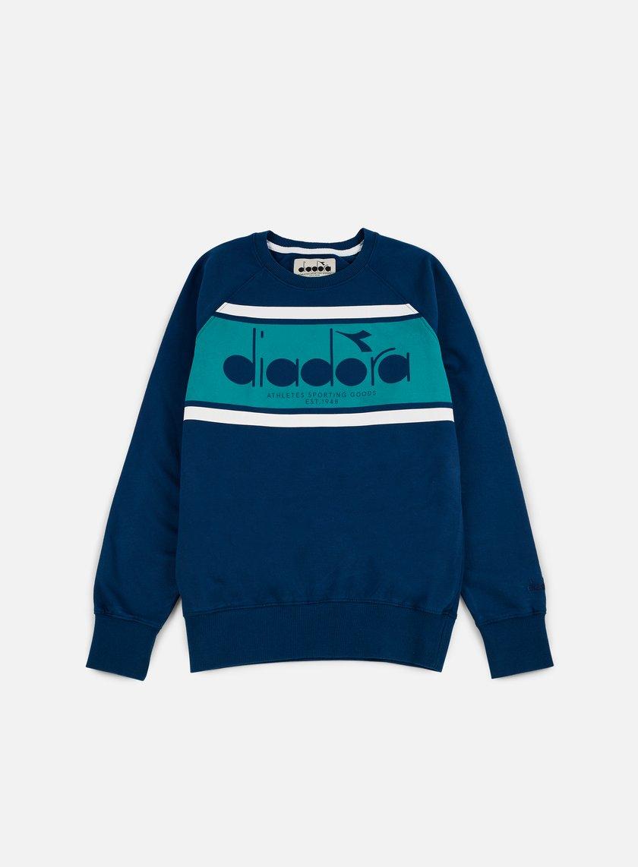 Diadora - BL Sweatshirt, Estate Blue/Porcelain Green