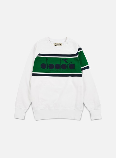 felpe diadora bl sweatshirt green super white