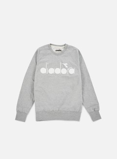 Diadora - BL Sweatshirt, Light Middle Grey Melange 1