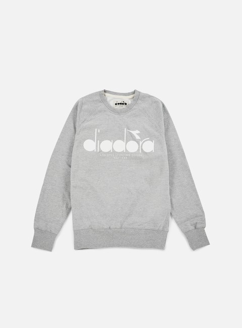 felpe diadora bl sweatshirt light middle grey melange