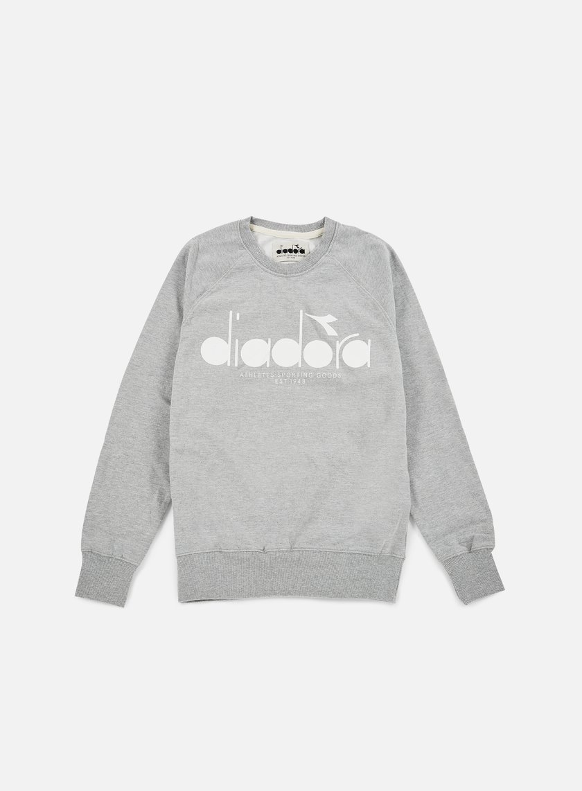 Diadora - BL Sweatshirt, Light Middle Grey Melange