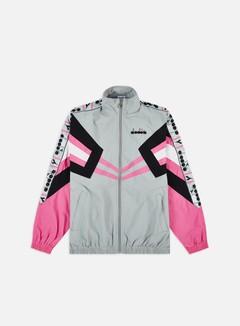 Diadora - MVB Track Jacket, High Rise/Carmine Rose