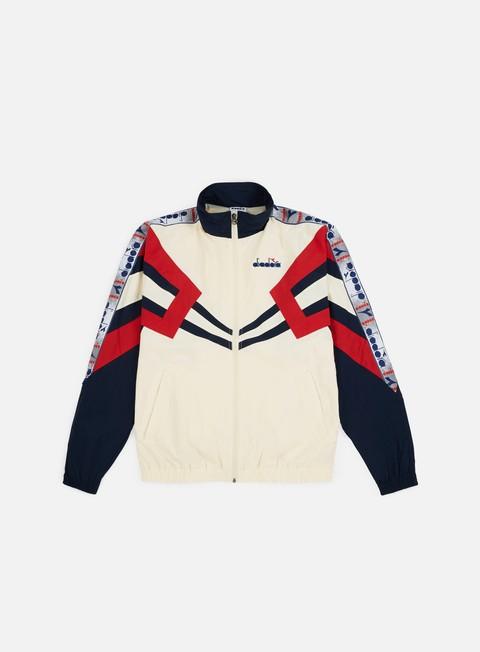 felpe diadora mvb track jacket ivory white