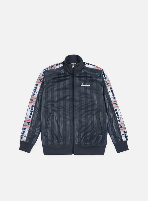 felpe diadora offside track jacket denim blue