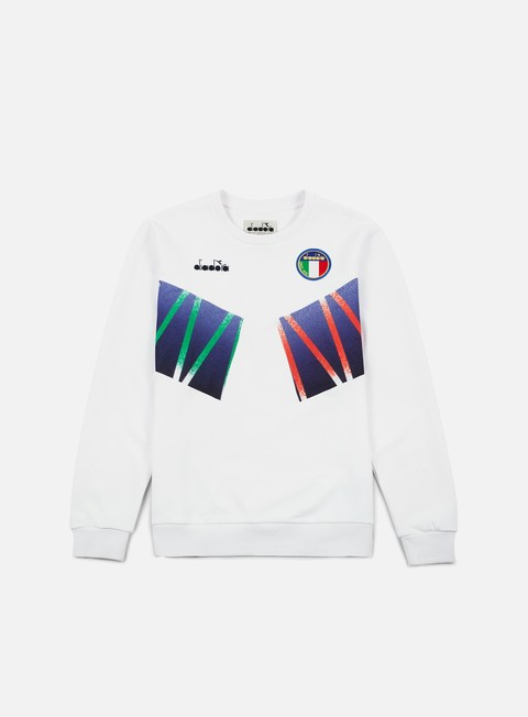 felpe diadora rb94 crewneck optical white