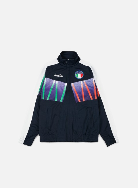 felpe diadora rb94 track jacket blue corsair