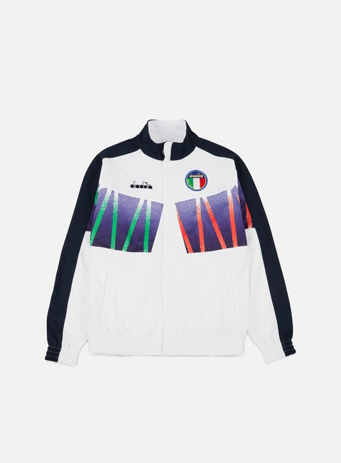 felpe diadora rb94 track jacket optical white