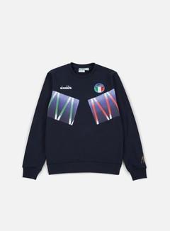 Diadora - Roberto Baggio Signature Crewneck Sweatshirt, Blue Corsair 1