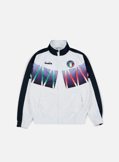 felpe diadora roberto baggio signature track jacket optical white