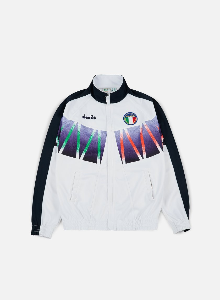 Diadora - Roberto Baggio Signature Track Jacket, Optical White