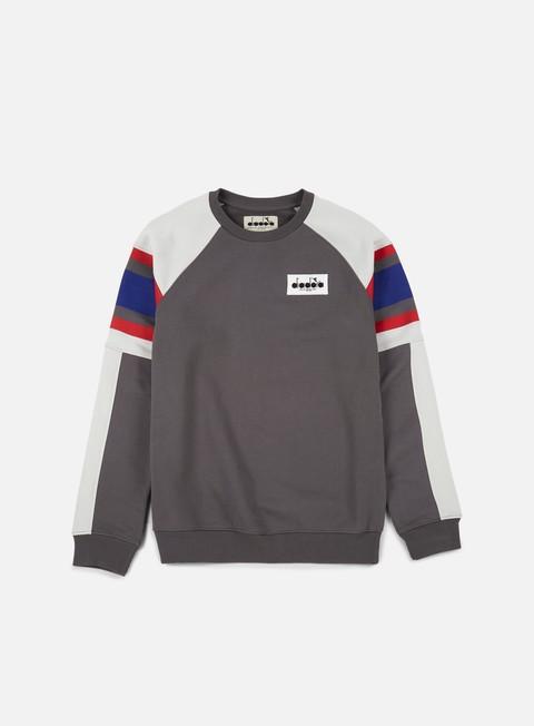 felpe diadora seoul 88 sweatshirt castle rock aluminium