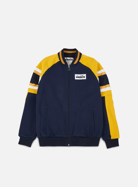 felpe diadora seoul 88 track jacket blue denim yellow old gold