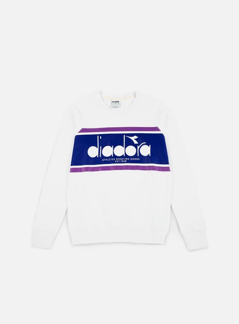 felpe diadora spectra crewneck optical white navy