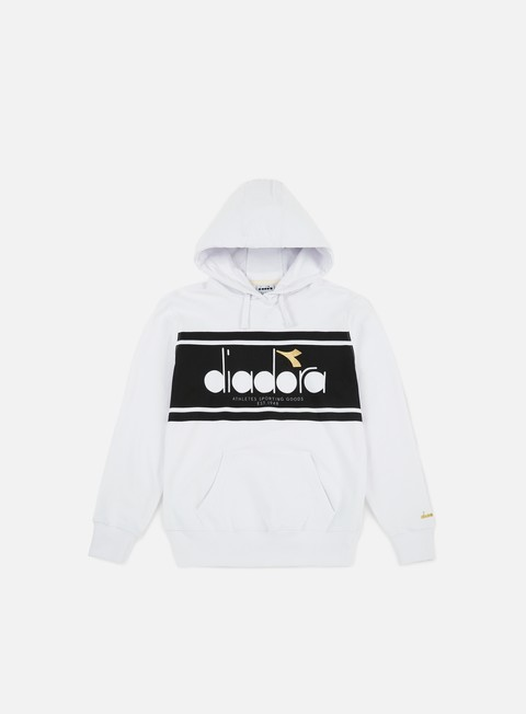 felpe diadora spectra hoodie optical white black