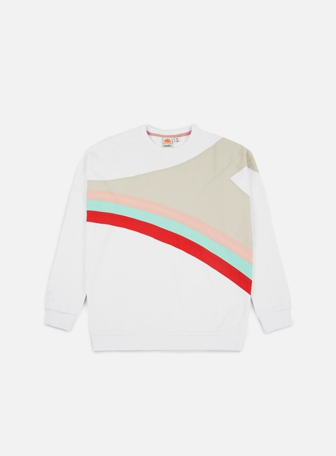 felpe diadora sundek raimbow f and f sweater optical white