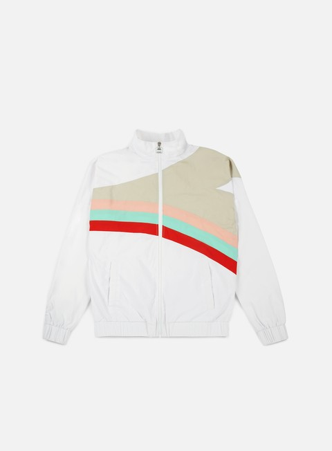 felpe diadora sundek raimbow f and f track jacket optical white