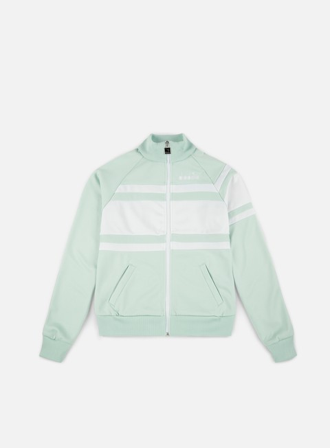 felpe diadora wmns 80s jacket sky blue chalk optical white