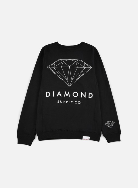 felpe diamond supply brilliant crewneck black