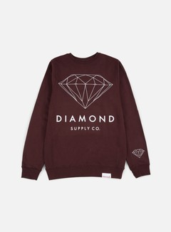 Diamond Supply - Brilliant Crewneck, Burgundy 1