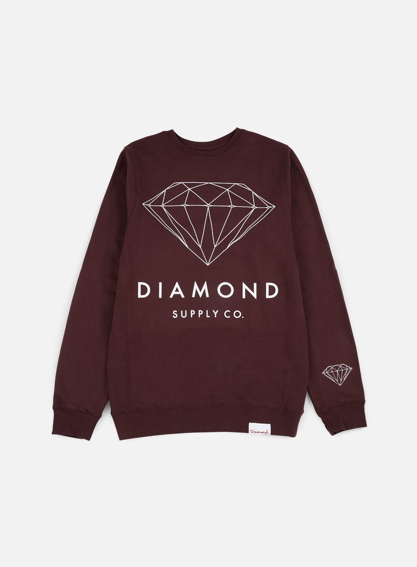 Diamond Supply - Brilliant Crewneck, Burgundy