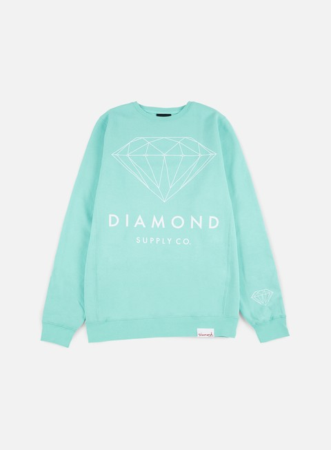felpe diamond supply brilliant crewneck diamond blue