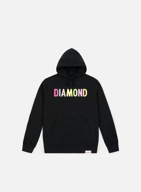 Outlet e Saldi Felpe Logo Diamond Supply Colour Pop Hoodie