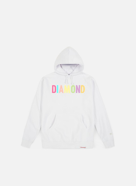 felpe diamond supply colour pop hoodie white