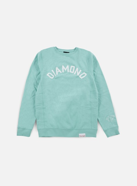 felpe diamond supply diamond arch crewneck diamond blue