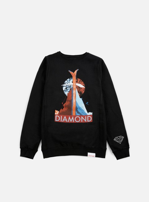 felpe diamond supply diamond peak crewneck black