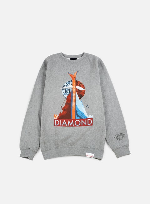 felpe diamond supply diamond peak crewneck gunmetal heather