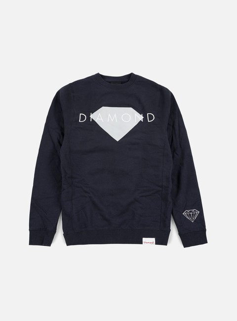 felpe diamond supply diamond solid crewneck navy
