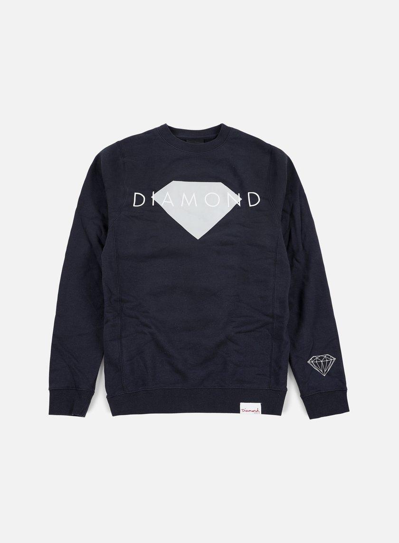 Diamond Supply - Diamond Solid Crewneck, Navy