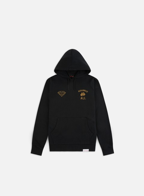 Outlet e Saldi Felpe con Cappuccio Diamond Supply Diamond X Muhammad Ali Fight Hoodie