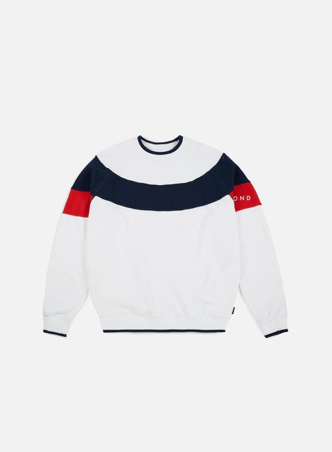 felpe diamond supply fordham crewneck white