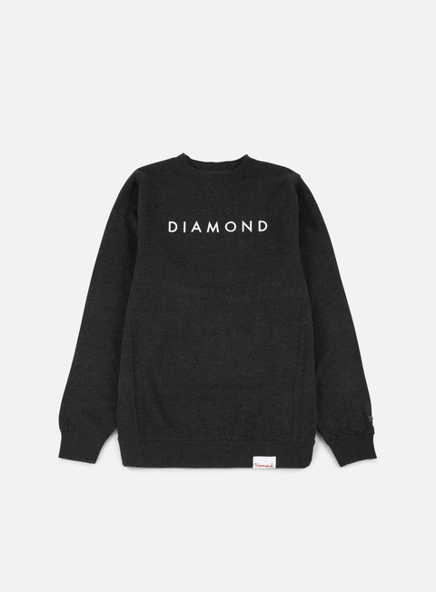 felpe diamond supply futura crewneck charcoal heather