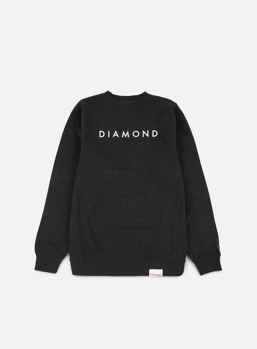 Diamond Supply - Futura Crewneck, Charcoal Heather