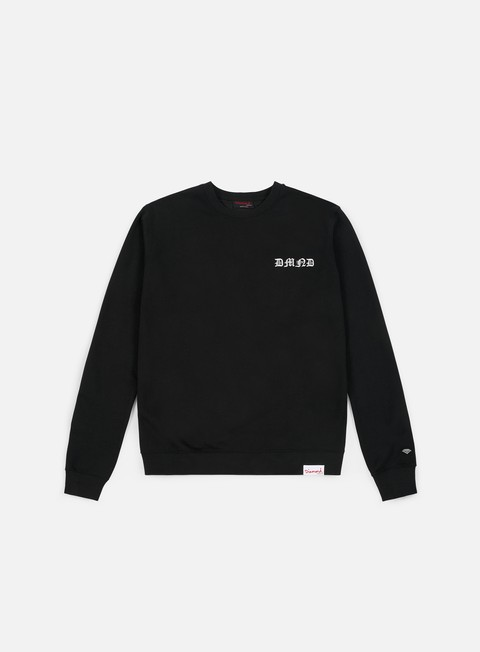 felpe diamond supply hand signs crewneck black