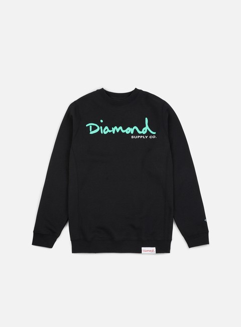felpe diamond supply og script core crewneck black