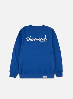 Diamond Supply - OG Script Crewneck, Royal