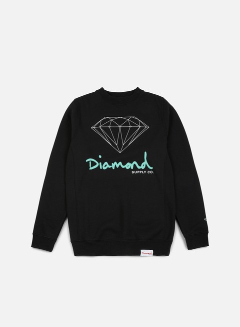 felpe diamond supply og sign core crewneck black