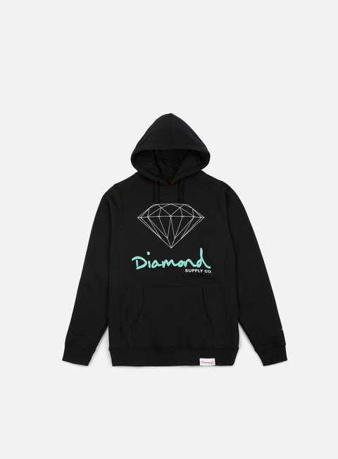 felpe diamond supply og sign core hoodie black