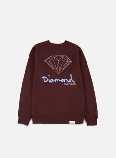 Diamond Supply - OG Sign Crewneck, Burgundy
