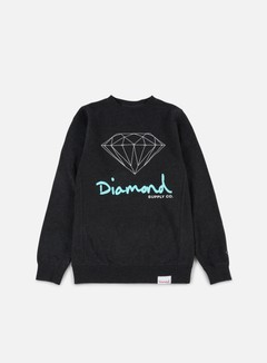 Diamond Supply - OG Sign Crewneck, Charcoal Heather