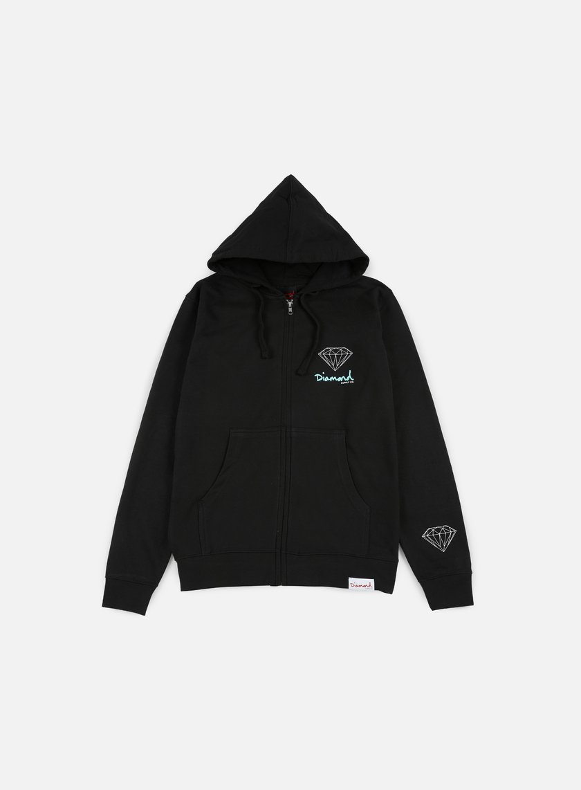 Diamond Supply - OG Sign Zip Hoodie, Black