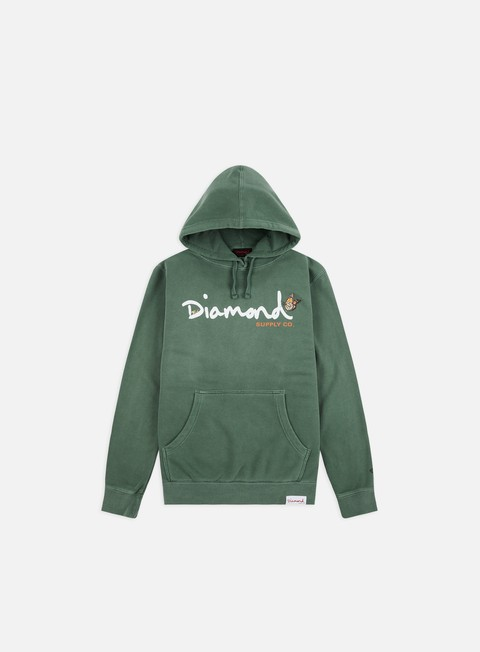 Outlet e Saldi Felpe Logo Diamond Supply Paradise OG Script Hoodie