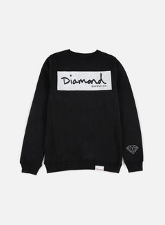 Diamond Supply - Radiant Box Logo Crewneck, Black 1