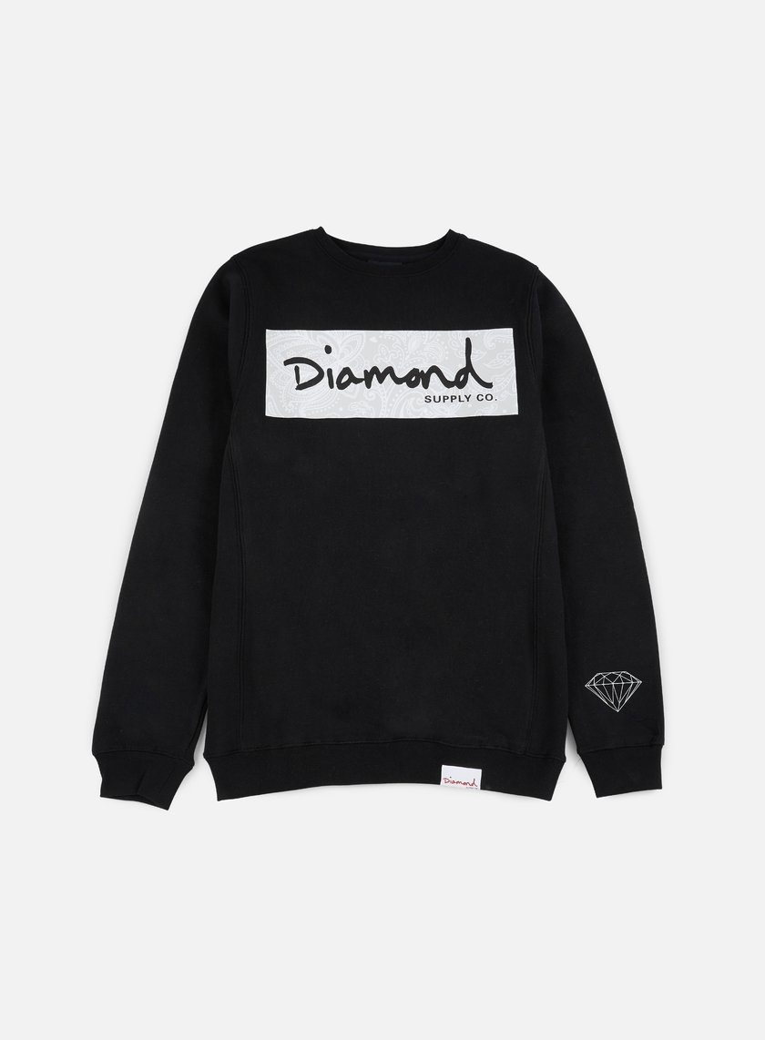 Diamond Supply - Radiant Box Logo Crewneck, Black
